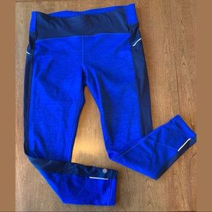 ATHLETA Bright Blue Fleece lined leggings